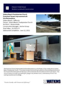Solana Beach Church Construction