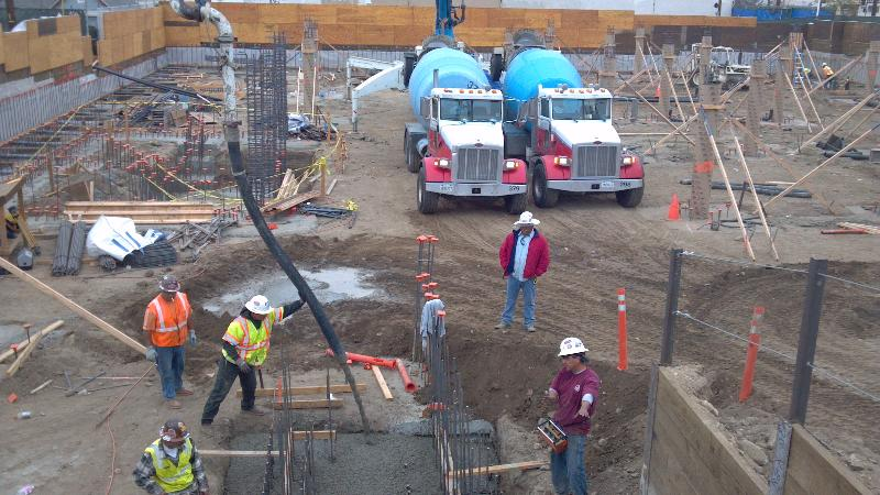 Footing Pour at Alliance Charter School