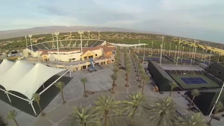 INDIAN WELLS TENNIS GARDEN VIEW FROM THE SKY