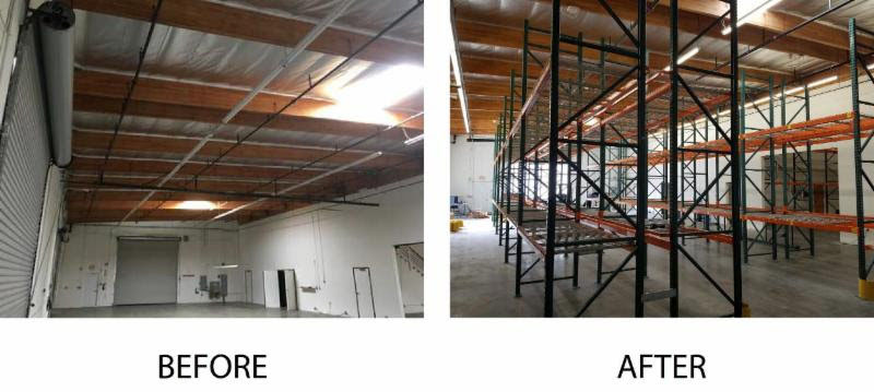 Alcon Warehouse Before & After